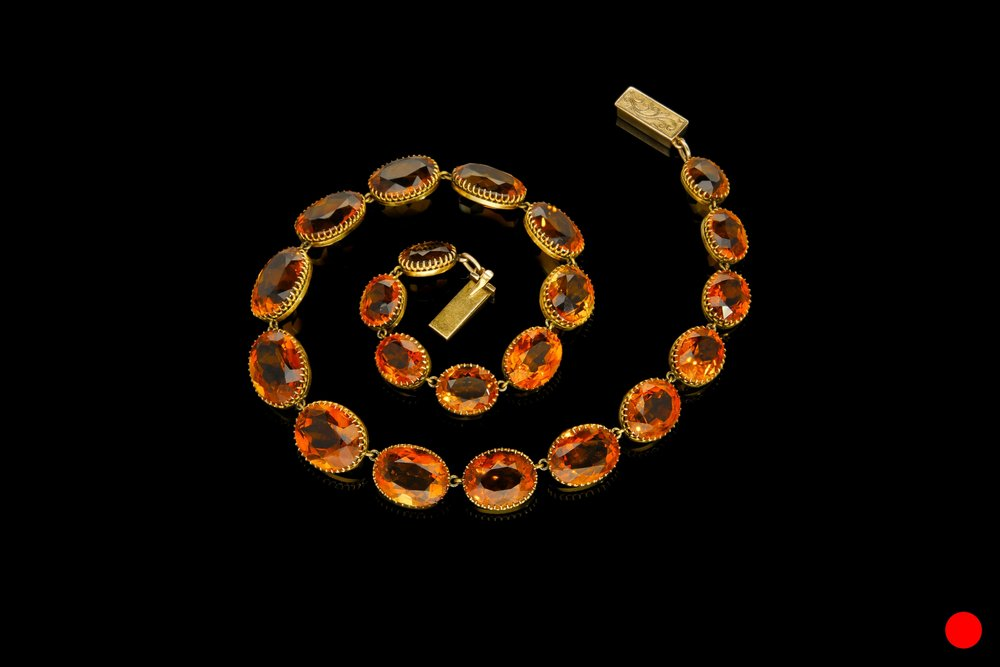 An early Victorian citrine riviere necklace set | £6000