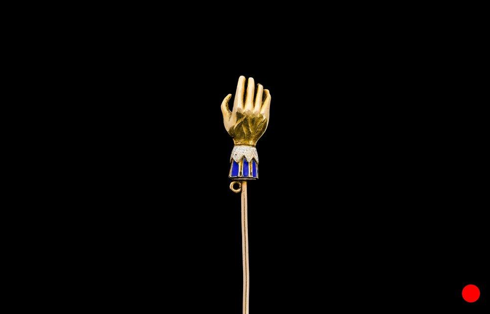 An enamel Regency hand stick pin | £1950