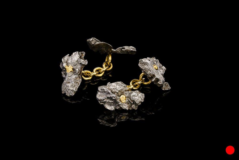 A pair of Siberian meteorite cufflinks | £1580