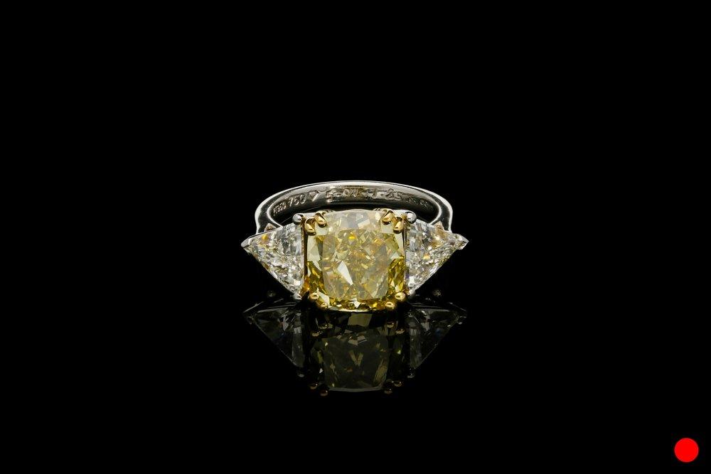 A rare cushion cut diamond ring   £59250
