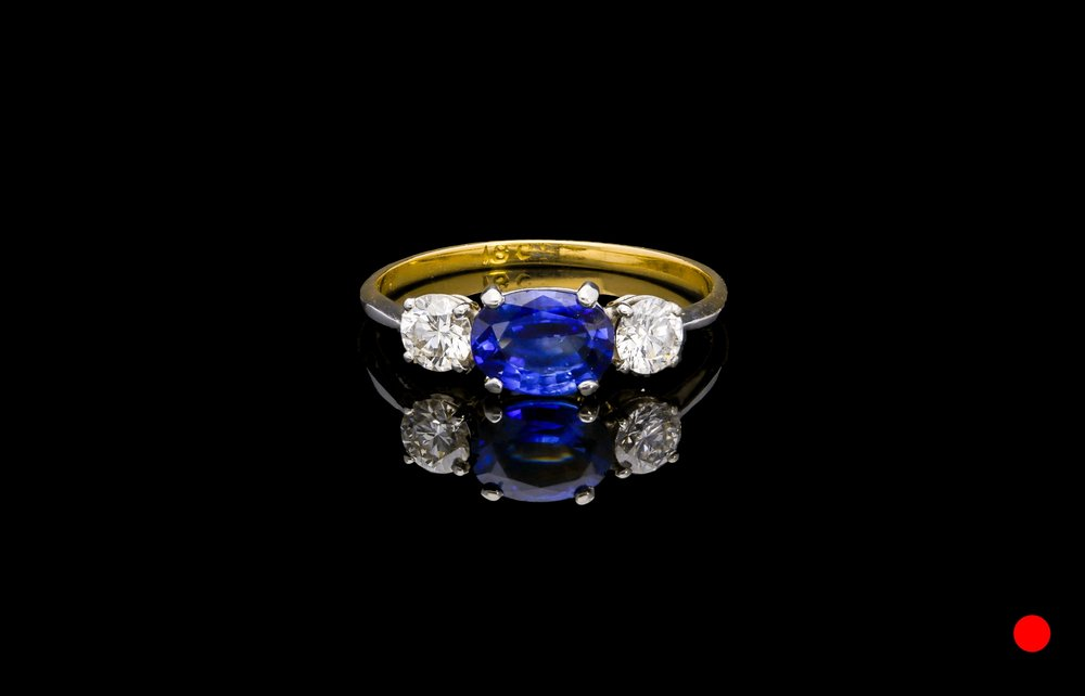 An unusual 1970's ring set   £4950
