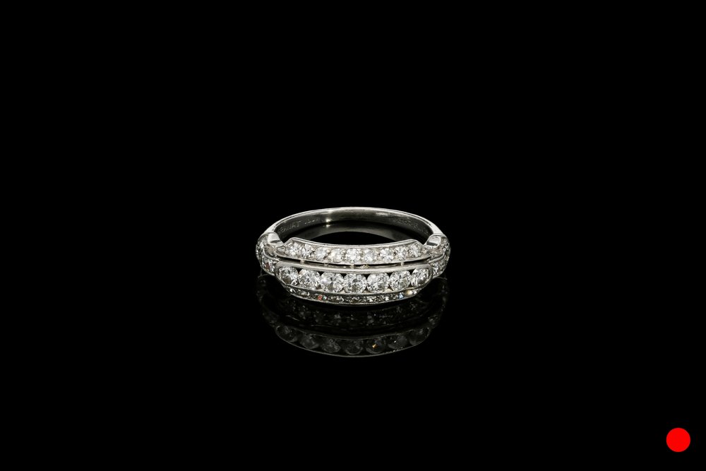 A 1940's platinum and transitional ring   £1850