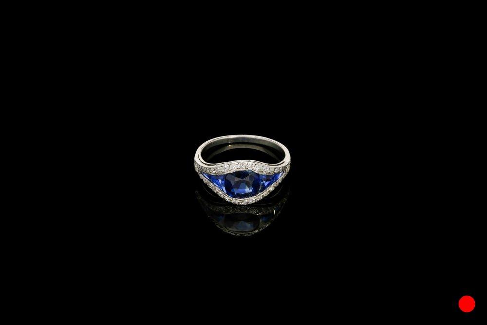 An Art Deco ring set in platinum   £8250