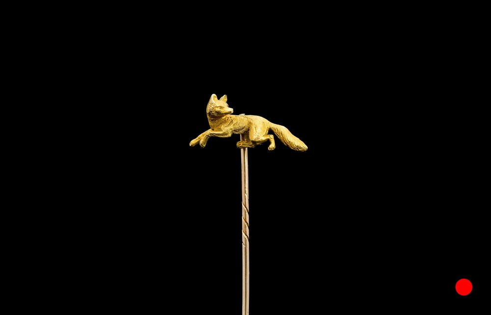 A Victorian crafted fox stick pin | £850