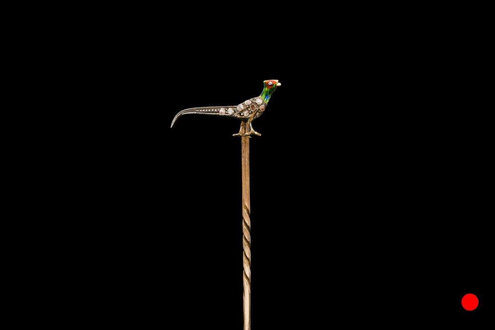 A Victorian pheasant stick pin set | £580