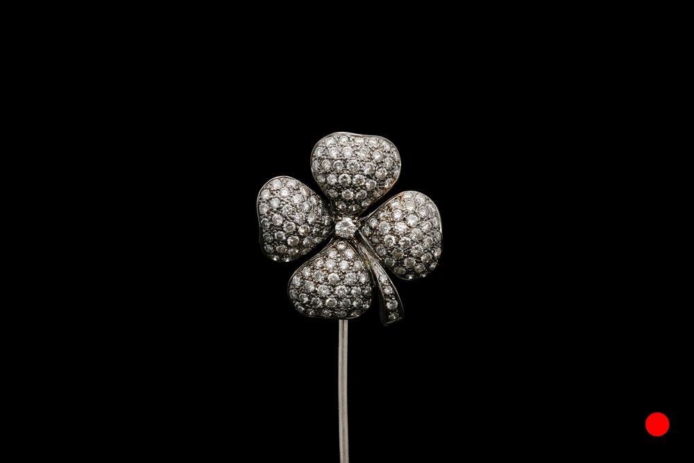 A 1950's four leaf clover stick pin | £3250