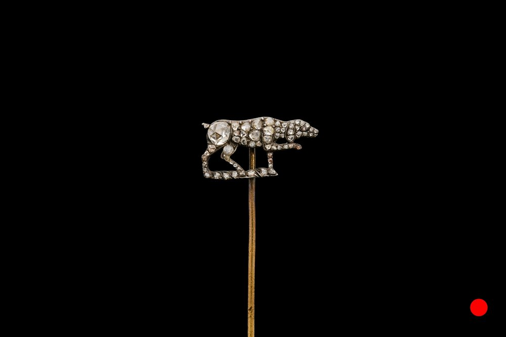 A marvellous Victorian dog stick pin | £2750