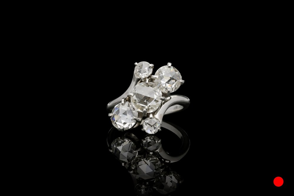 An 1920's Cartier rose cut diamond ring   £15250
