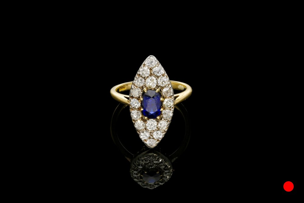 A Victorian sapphire and diamond ring   £5250