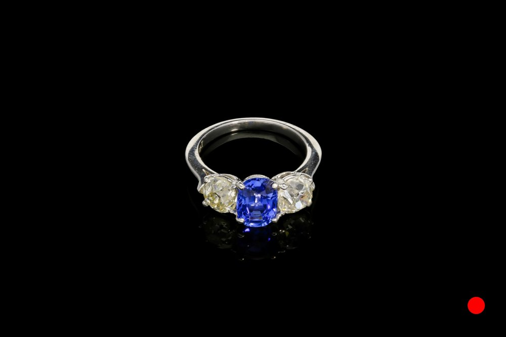An 1970's sapphire and diamond ring   £14700