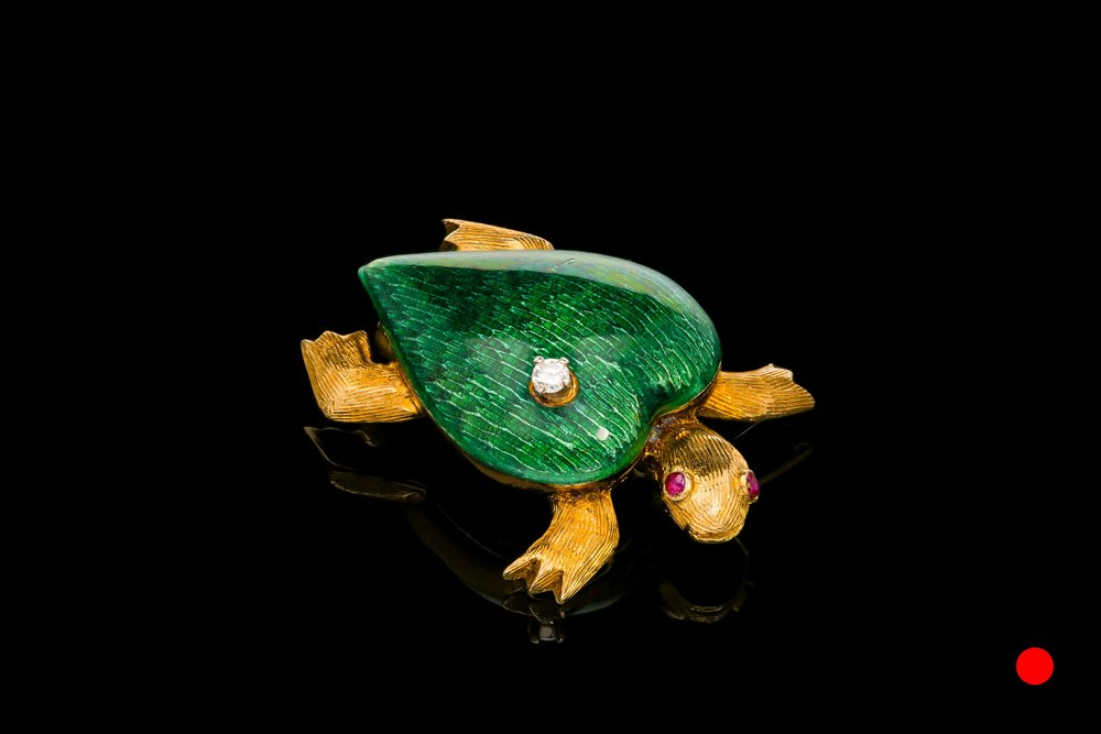 A Cartier 1950's tortoise brooch | £4760