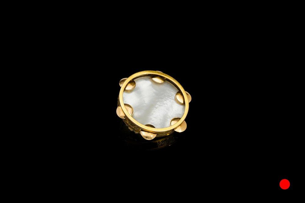 A Victorian pearl tambourine brooch | £520