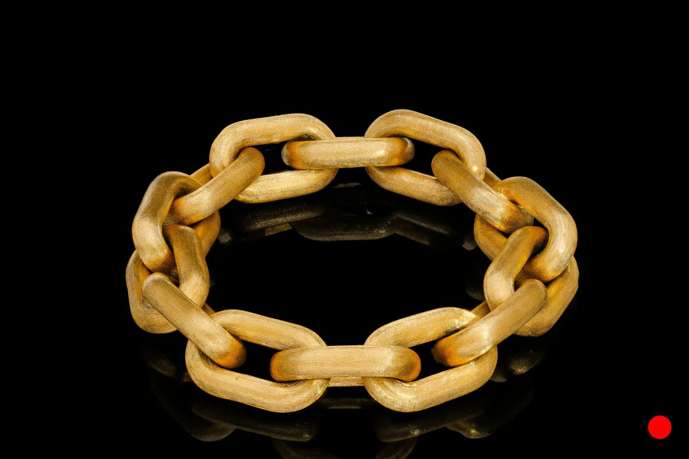 A 1950's Italian Florentine gold bracelet   £9950