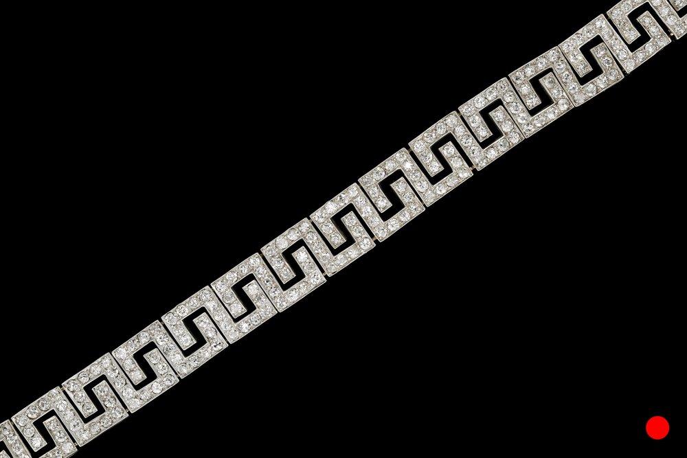 An Art Deco Greek pattern bracelet   £14500