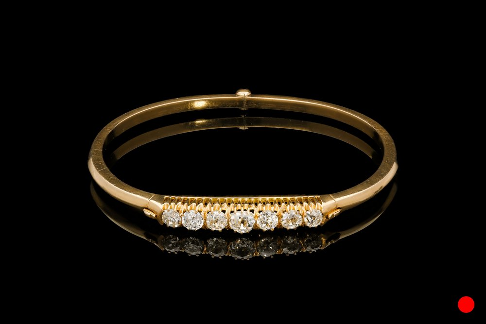 A 1880's Russian 18ct bangle set   £7800