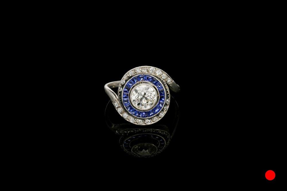 An Art Deco whirlpool ring | £9450