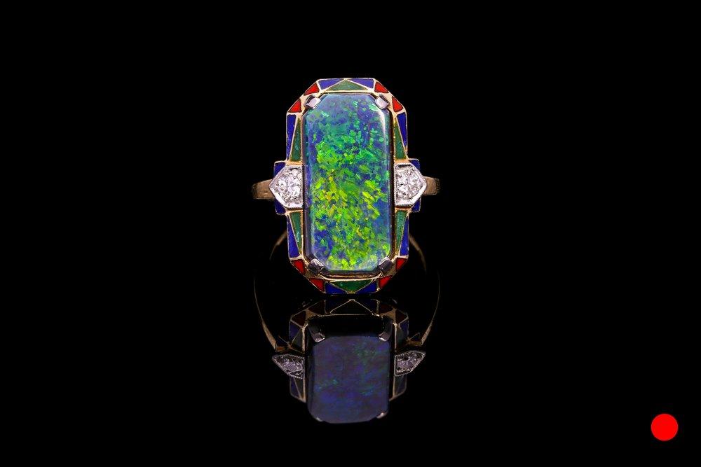 An Art Deco opal ring | £7950