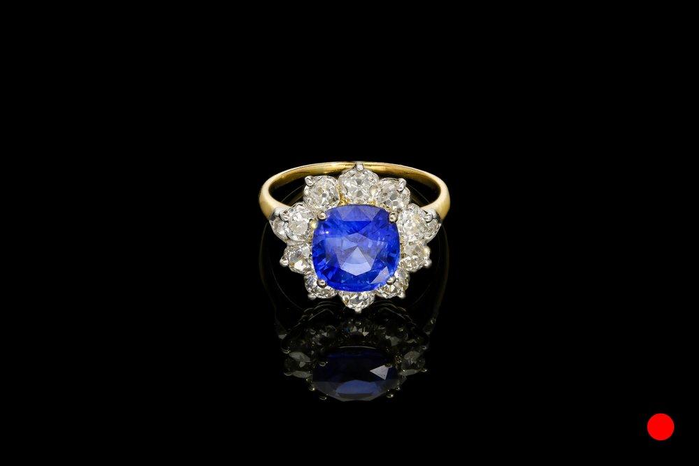 An Edwardian Old European ring   £18600
