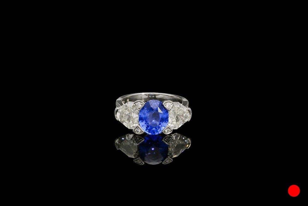 A sapphire and diamond ring set   £20525