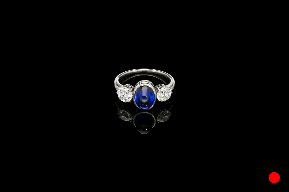 An sapphire and Old European ring   £6250