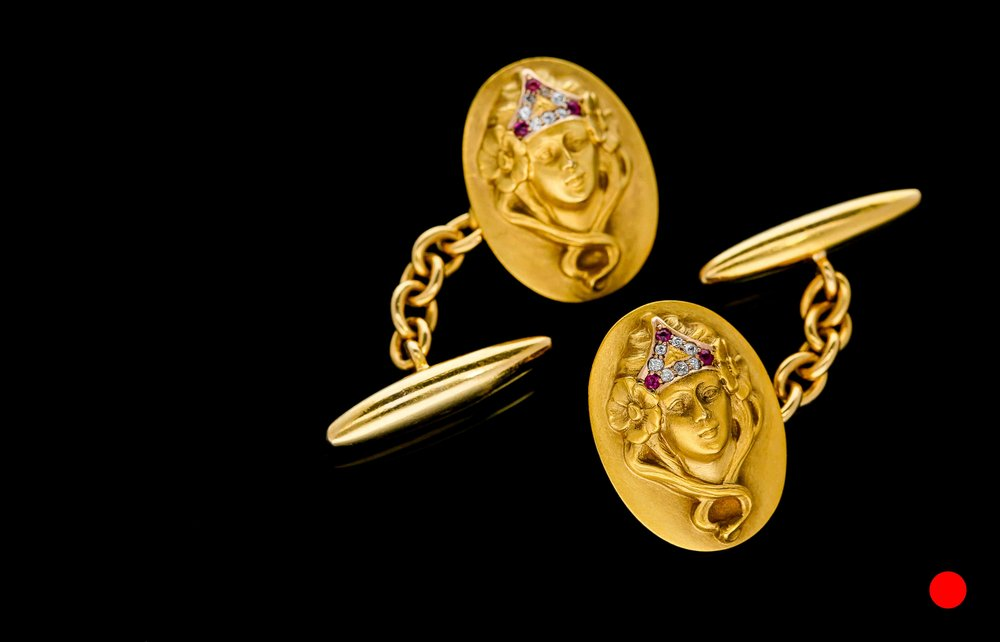 An Art Nouveau cufflinks £7250