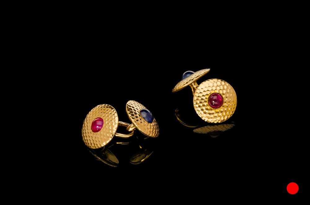 A 18ct rose gold 1950's cufflinks | £2450