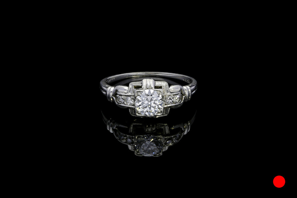 An Art Deco Old European diamond ring   £4850