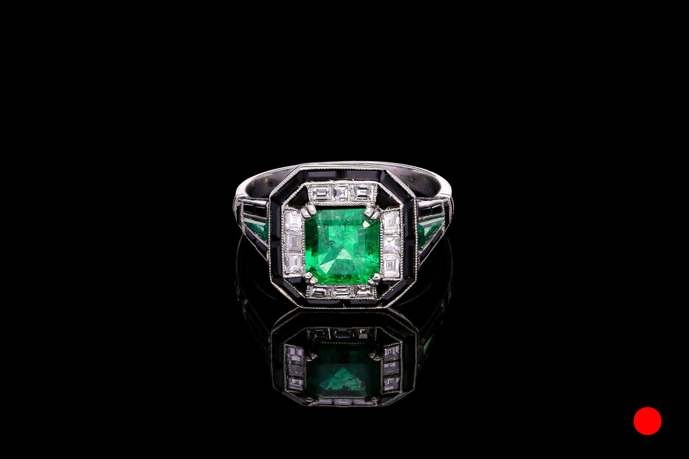 An iconic Art Deco ring set in platinum   £22500