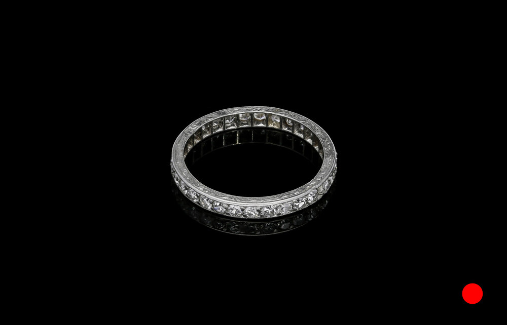 An Art Deco eight-cut diamond eternity ring set   £2850