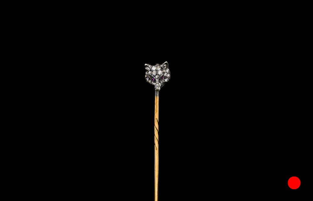 A Victorian wolf head stick pin | £1370