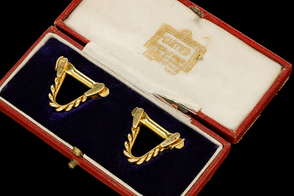 A Cartier cufflinks in the late Art Deco | £3250