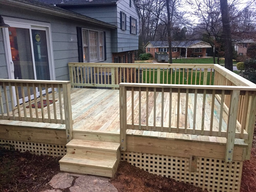 A brand new deck, partly completed