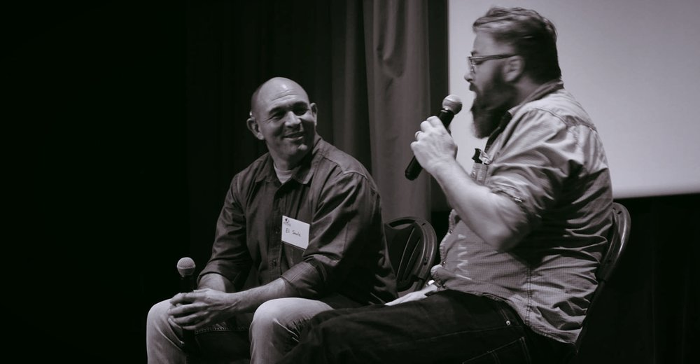 Atlas Networks     along with   Taliesin Nexus   held an advance screening in Hollywood on April 20, 2017. ( Eli Steele [L] with Matt Edwards .)