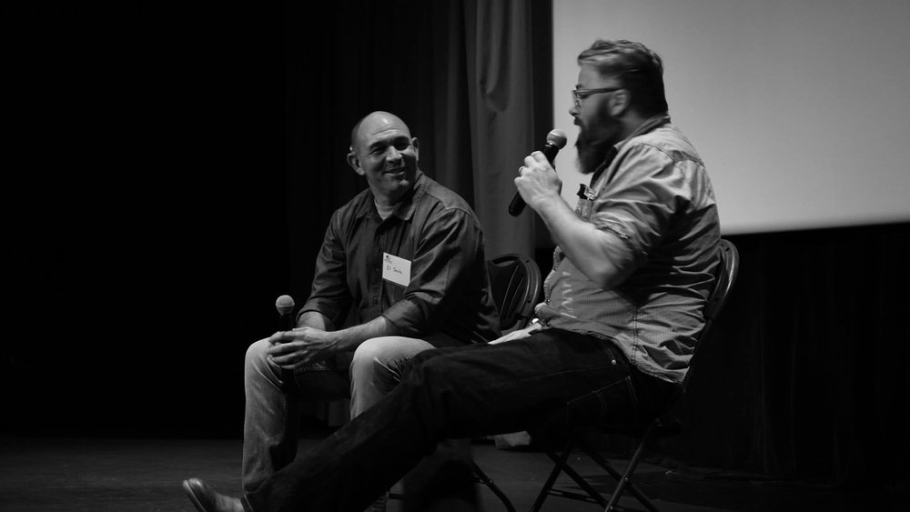 Filmmaker Eli Steele at a post-screening Q & A.
