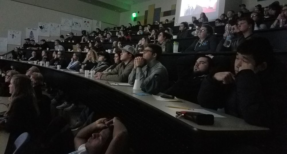 A full house at Northwood University! Students saw  How Jack Became Black  on January 29, 2018 and asked many insightful questions during the Q&A with filmmaker Eli Steele.