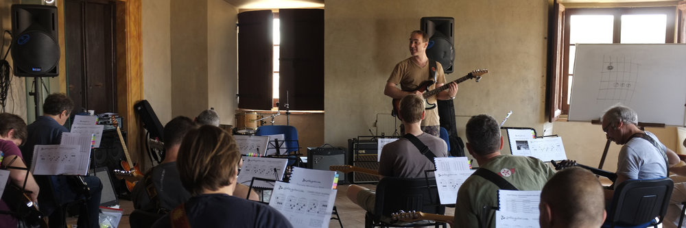 This was an electric workshop in 2016. No pix of acoustic workshops yet!