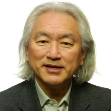 Professor Michio Kaku, kinda looking like the modern day Einstein.