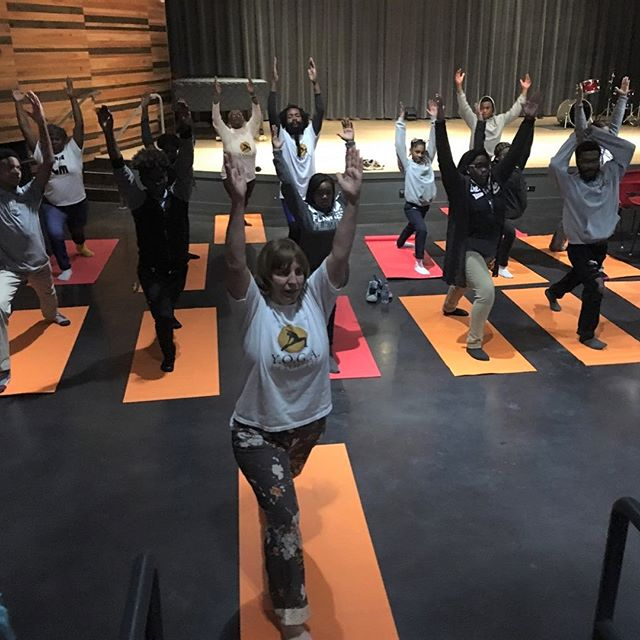 YEP ENRICHES: @yepnola Afterschool Program which supports youth between to the ages of 7-15 took a field trip on Tuesday afternoon to the New Orleans Jazz Market for a fun yoga session facilitated by YOGA for Youth New Orleans! Namaste. #supportYEPyouth