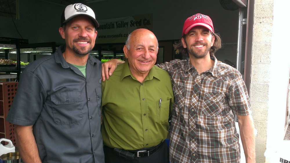 Robb and Lance spend time with Demetrios, founder of MV Seeds, when Demo visits from Arizona.