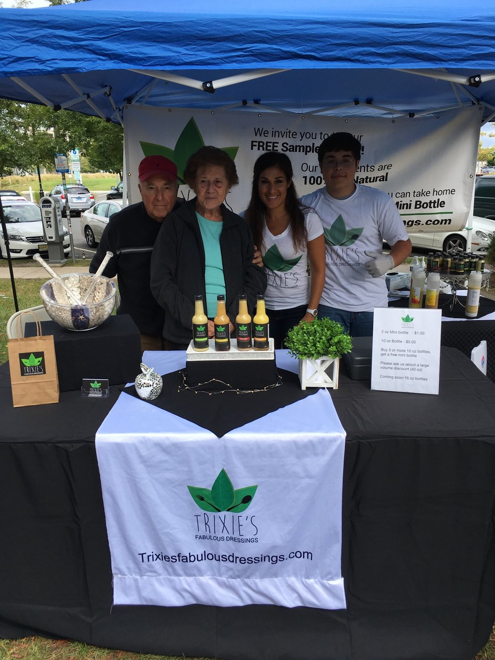 My 87 year old father, 83 year old mother and my son Nicholas all helping me out at the Asbury Park farmers market on Labor Day weekend 2017.