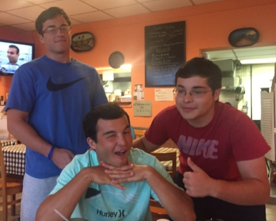 Employee appreciation dinner in August 2017 (before Andrew left for college). Yes- the boys are being silly, but all we did the whole dinner was laugh.