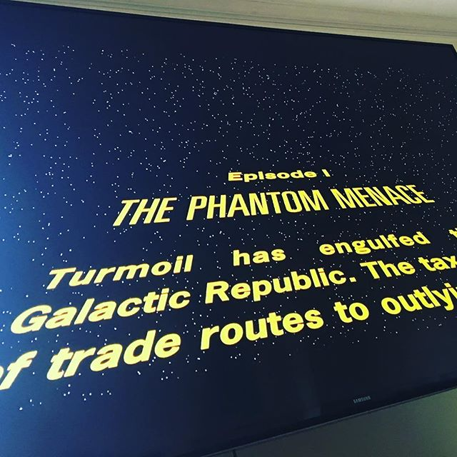 MAY the Fourth be with you - starts now !!! #starwars #episode1 #maythe4thbewithyou #maythefourthbewithyou #thephantommenace #bigfans @brothersbarnes