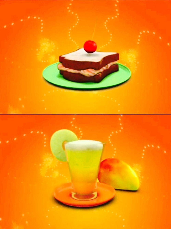 Tuna Sandwich with Mango & Pineapple Shake - Ready!   Photo:  motionkids-tv.com