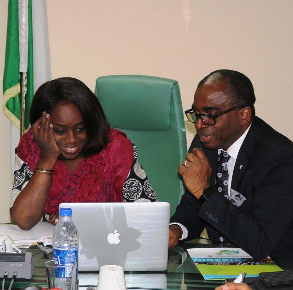 Kemi Adeosun, Hon. Minister of Finance and Olusegun Awolowo