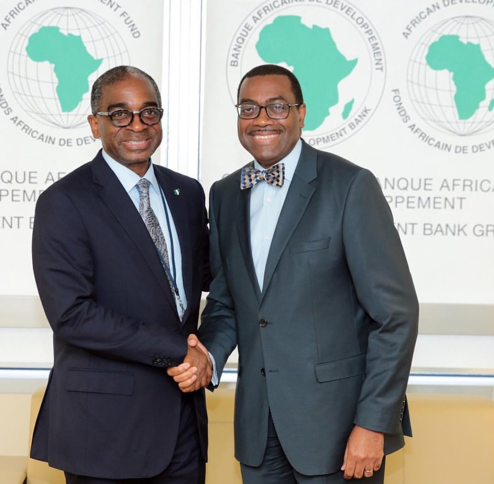 C.E.O NEPC with Akinwunmi Adesina, President,Africa Development Bank