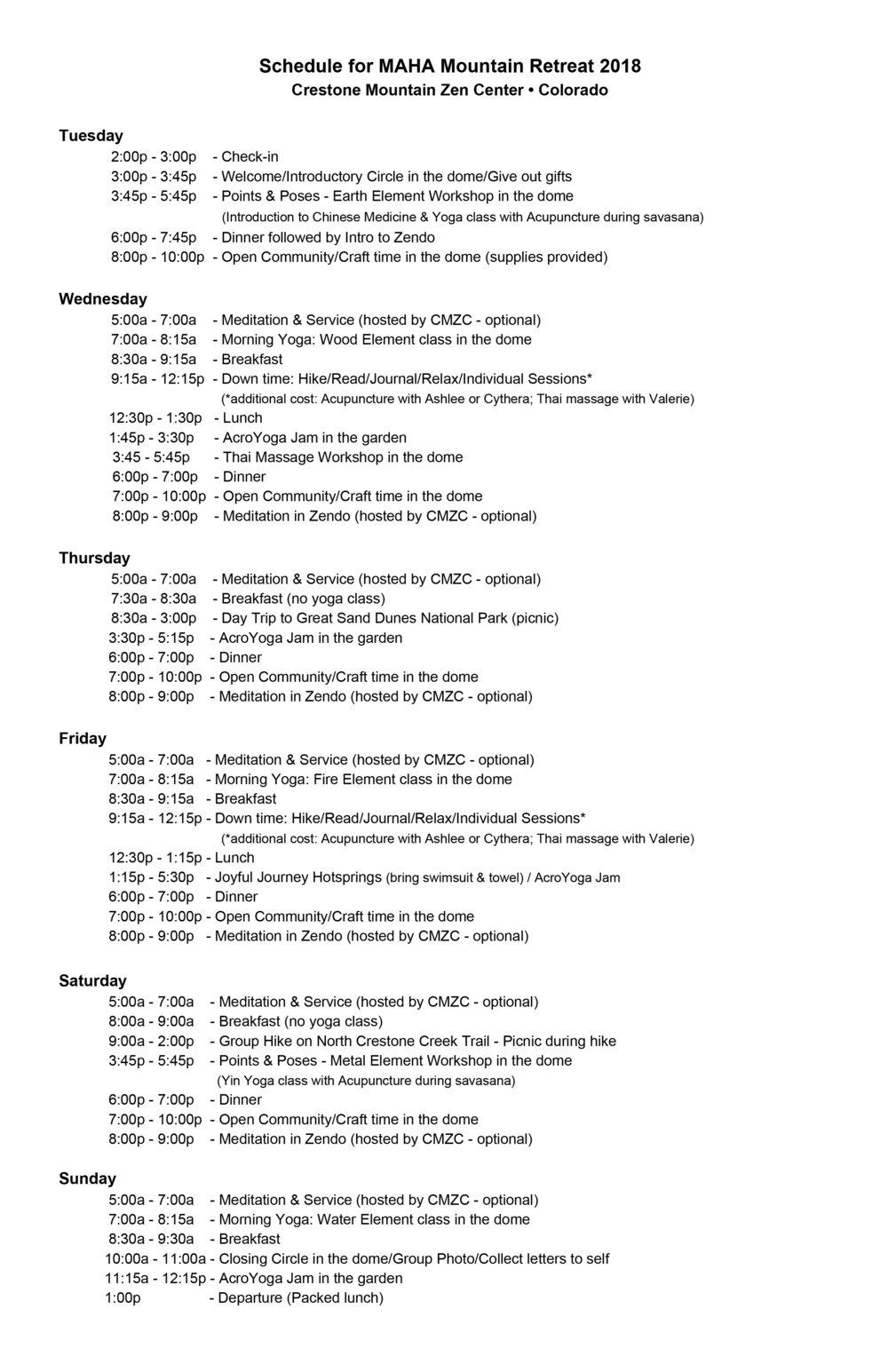 Schedule for MAHA Mountain Retreat - 2018.jpg