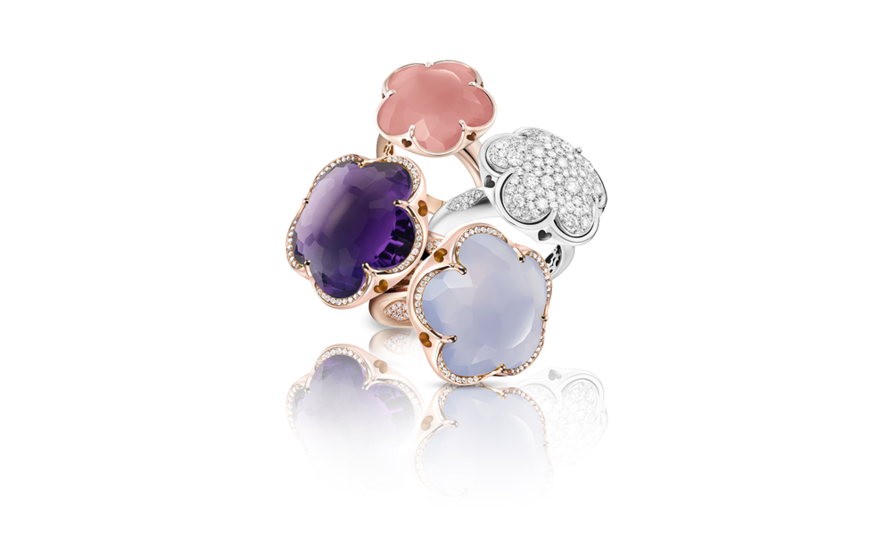 Pink Chalcedony: 15386R Amethyst: 15357R Light Chalcedony: 15050R White Gold: 14865B