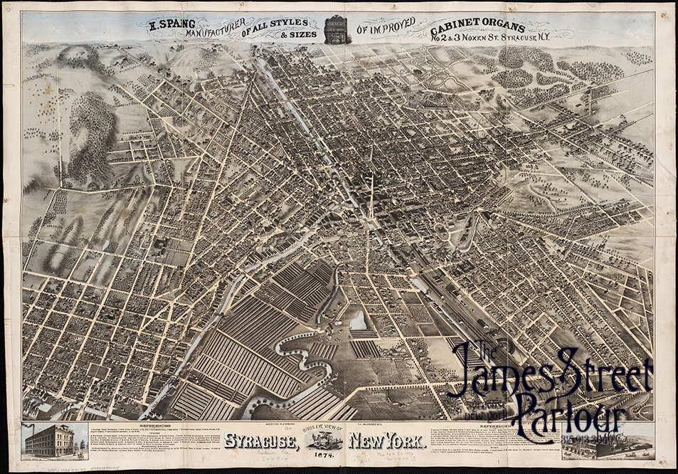 Map of Syracuse 1874