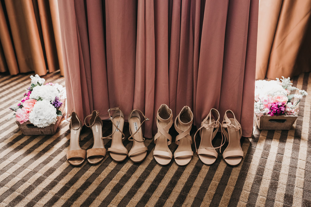 Bridesmaids Shoes Pleasanton Hotel