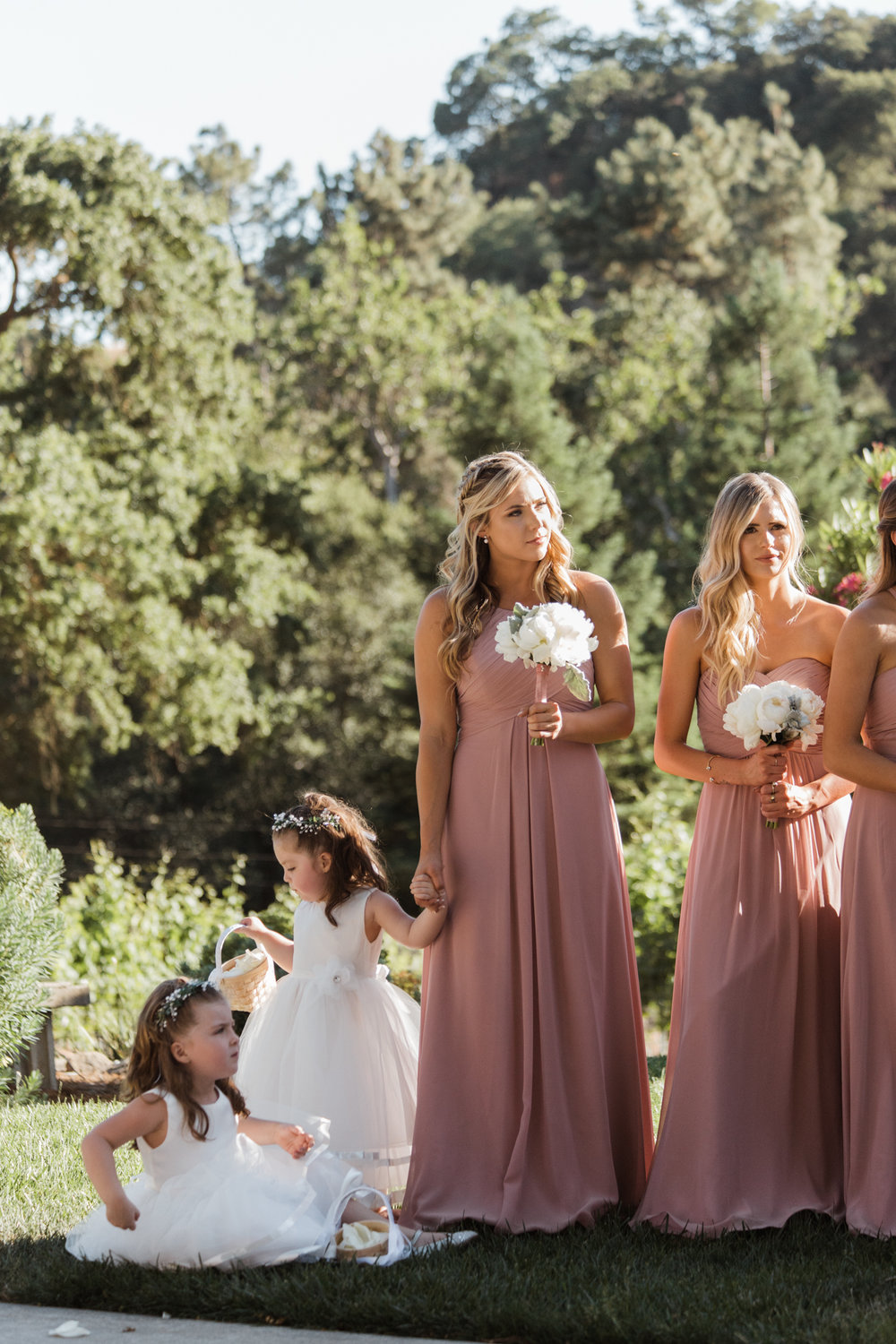 Bridesmaid flower girl Elliston Vineyard Sunol